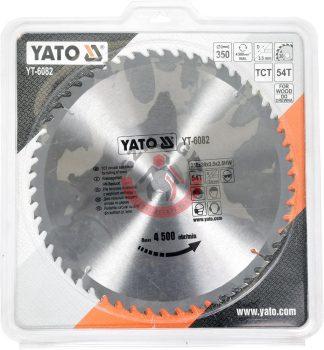 YATO 6082 Körfűrész lap vídiás 350x54x30