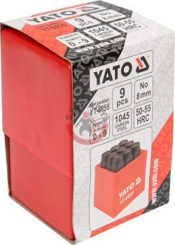 YATO 6855 Számbeütő készlet 9 részes