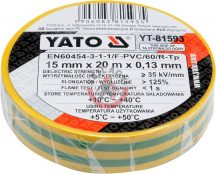 YATO 81593 Szigetelőszalag Züld-Sárga 0,13mm x 15mm x 10m