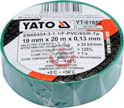 YATO 81652 Szigetelő szalag 20m Zöld