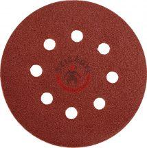 YATO 83454 Csiszolókorong tépőzáras lyukas 125mm P100 5db/cs